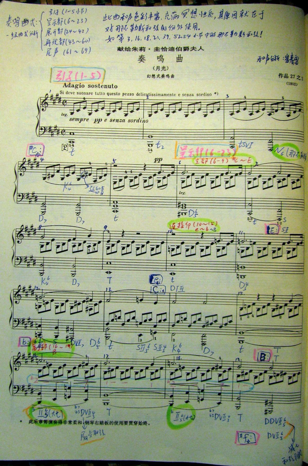 三集 贝多芬 月光奏鸣曲 第一乐章