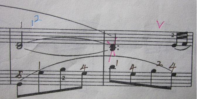 高音谱表和低音谱表同一时值,相同的音,该怎么弹
